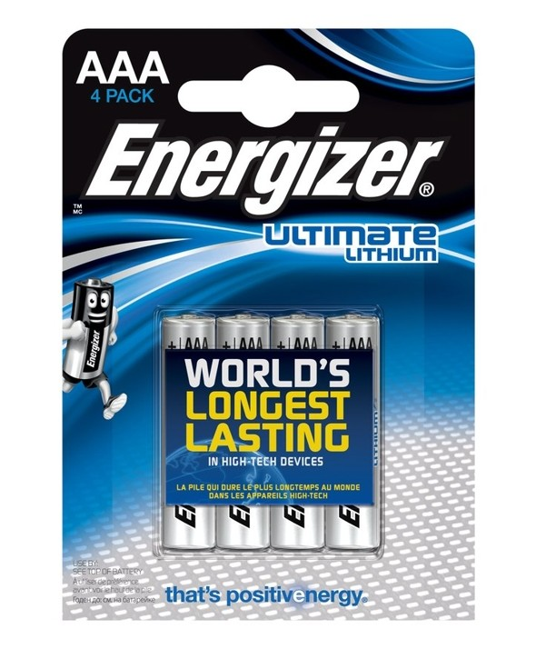 PILA LITHIUM LR-3 AAA ENERGIZER L92 BLISTER 4 UNIDADES