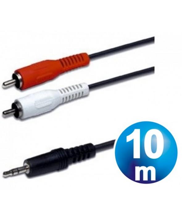 CONEXION AUDIO JACK 3.5 ST/M A 2 RCA/M 10m