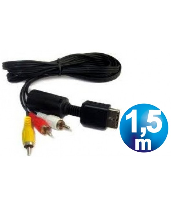 CONEXION PS2/PS3 A 3 RCA AUDIO/VIDEO 1.5 METROS
