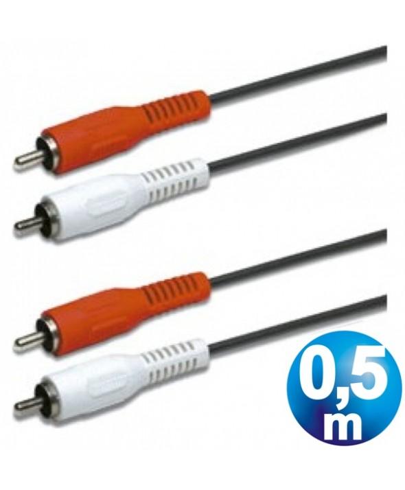 CONEXION AUDIO 2 RCA M/M CABLE 0.5m