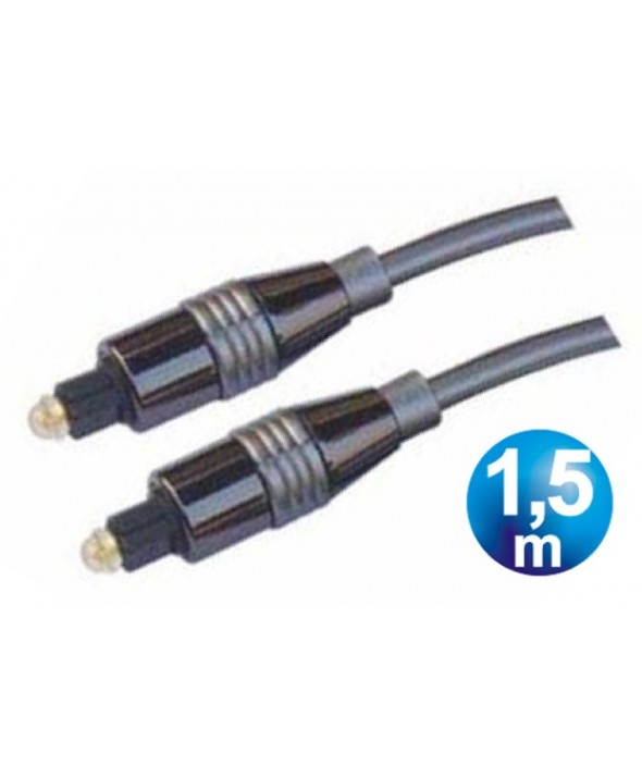 CONEXION FIBRA OPTICA TOSLINK M/M HQ CABLE 1.5 m