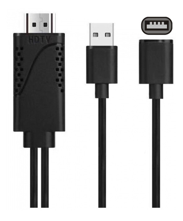 CONEXION MHL HDMI HD IPHONE,TIPO C Y MICRO USB 1.8m