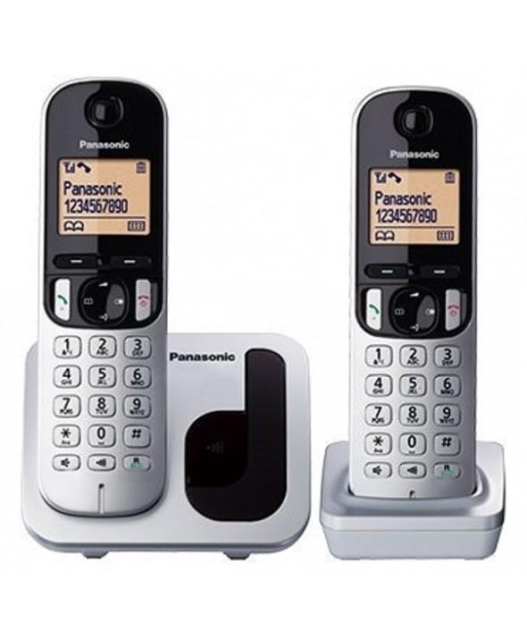 TELEFONO INALAMBRICO DUO PANASONIC KX-TGC212 PLATA