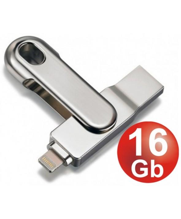 PEN DRIVE 16 Gb Usb 3.0 USB + LIGHTNING PLATINET