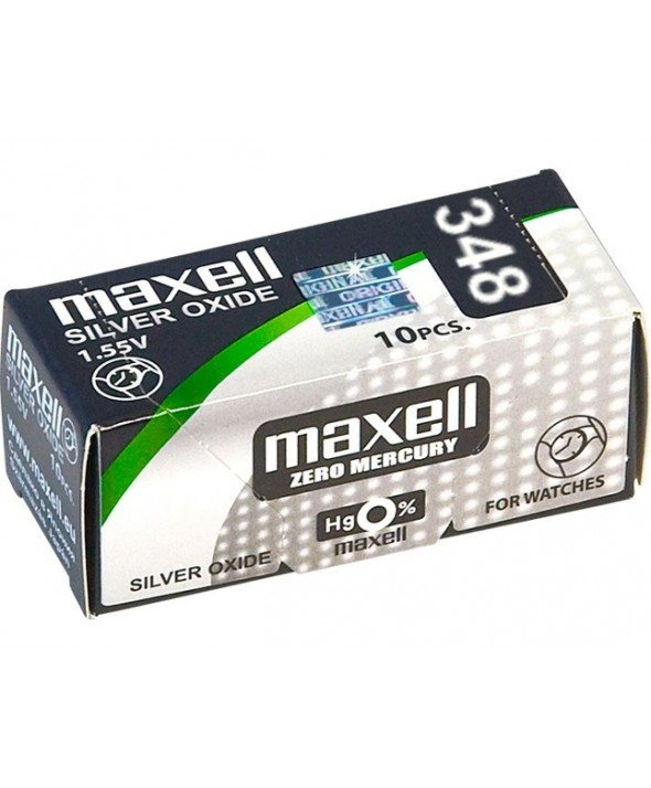 PILA Ox DE PLATA 1.55V (SR421SW) 348 MAXELL