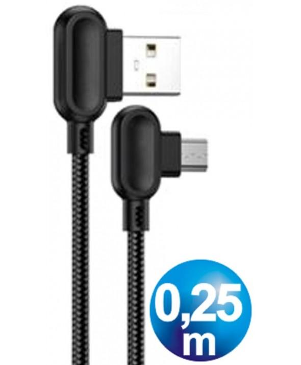 CONEXION ALIMENTACION MICRO USB 25cm POWER BANK