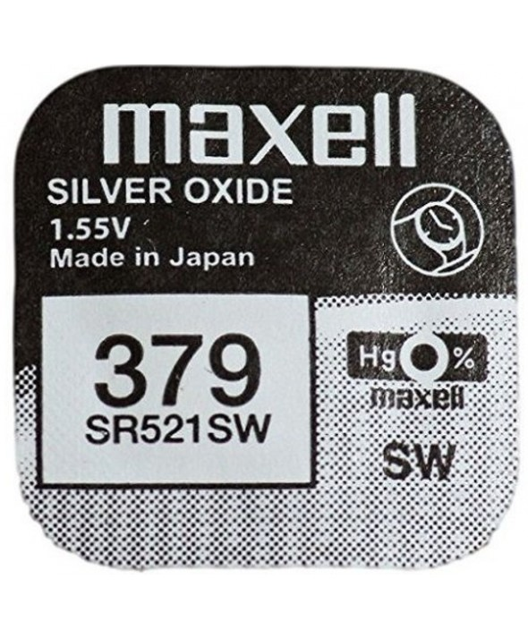 PILA Ox DE PLATA 1.55V (SR521SW) 379 MAXELL
