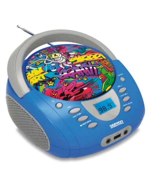 RADIO CD DIGITAL Mp3 Usb GRAFFITI DAEWOO