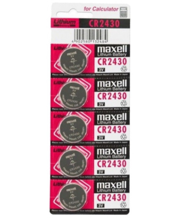 PILA LITIO CR2430 MAXELL BLISTER DE 5 UDS
