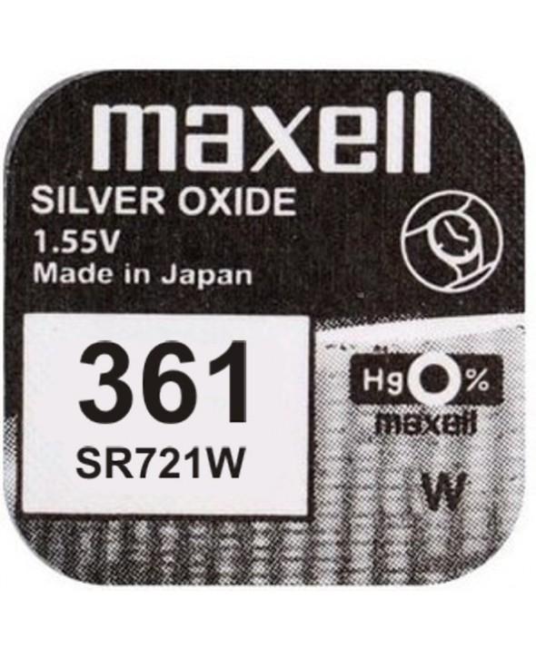 PILA Ox DE PLATA 1.55V (SR721W) 361 MAXELL