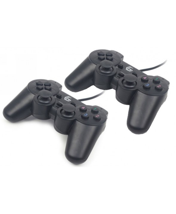 2 MANDOS ALAMBRICOS PC COMPATIBLE DUALSHOCK