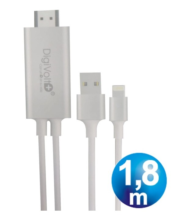 CONEXION MHL HDMI HD PARA IPHONE11PRO 1.8m CABLE