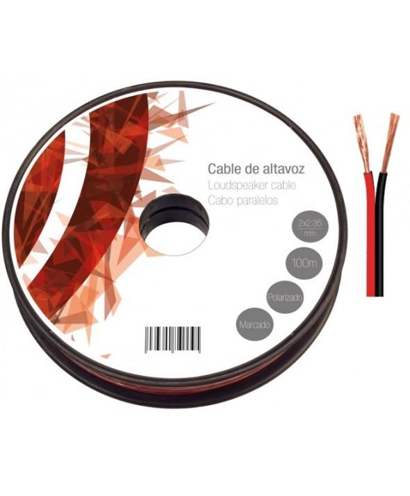 ROLLO 100m CABLE 2x0.35mm ROJO/NEGRO