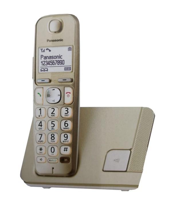 TELEFONO INALAMBRICO PANASONIC KX-TGE210 GOLD