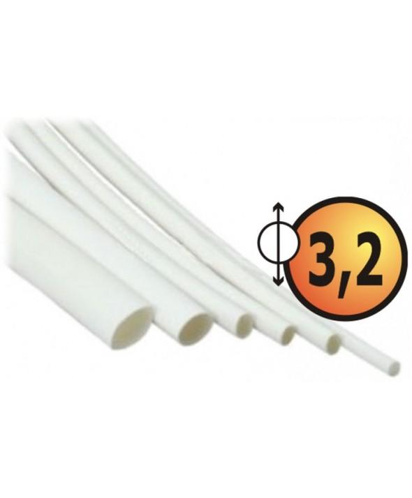 FUNDA TERMO RETRACTIL 3.2mm (10 UNIDADES) 1m BLANCA