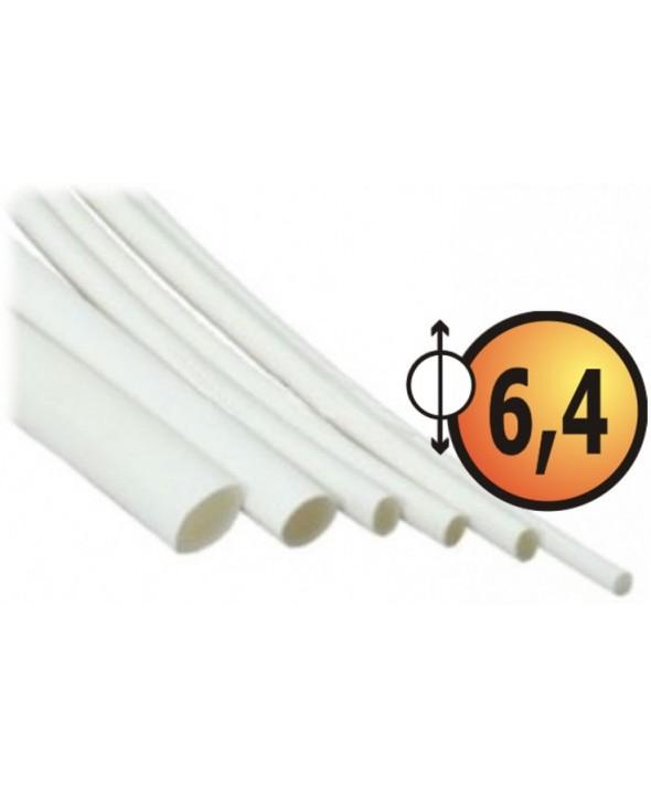FUNDA TERMO RETRACTIL 6.4mm (10 UNIDADES) 1m BLANCA