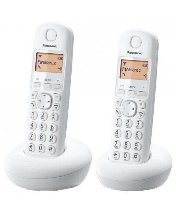 TELEFONO INALAMBRICO DUO PANASONIC BLANCO