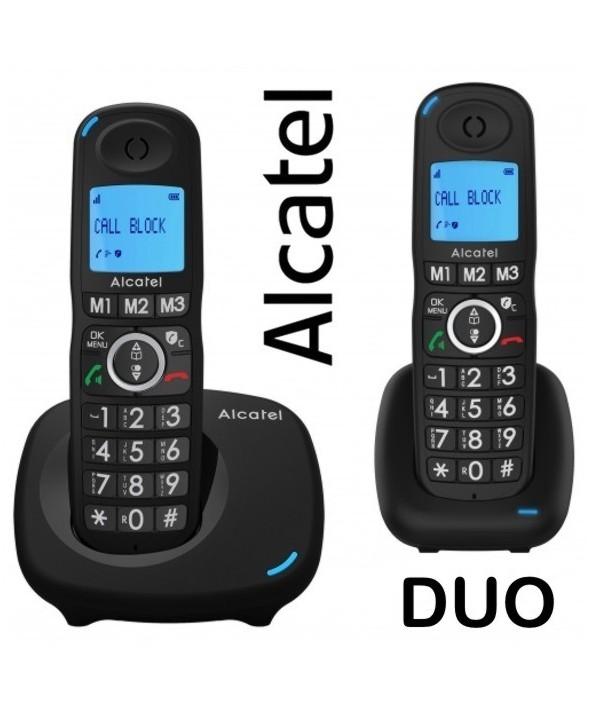 TELEFONO DUO INALAMBRICO TECLAS GRANDES ALCATEL NEGRO