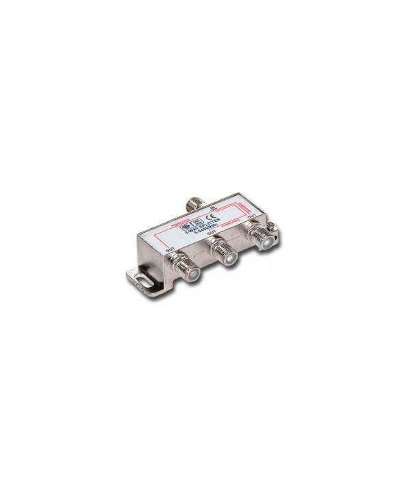 SPLITER SATELITE 5-2450 MHz 1 ENTRADA 4 SALIDAS
