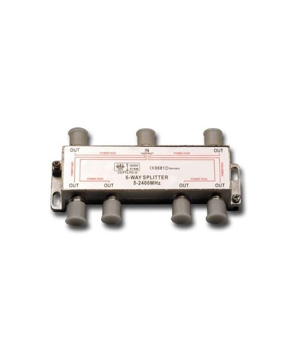SPLITER SATELITE 5-2450 MHz 1 ENTRADA 6 SALIDAS
