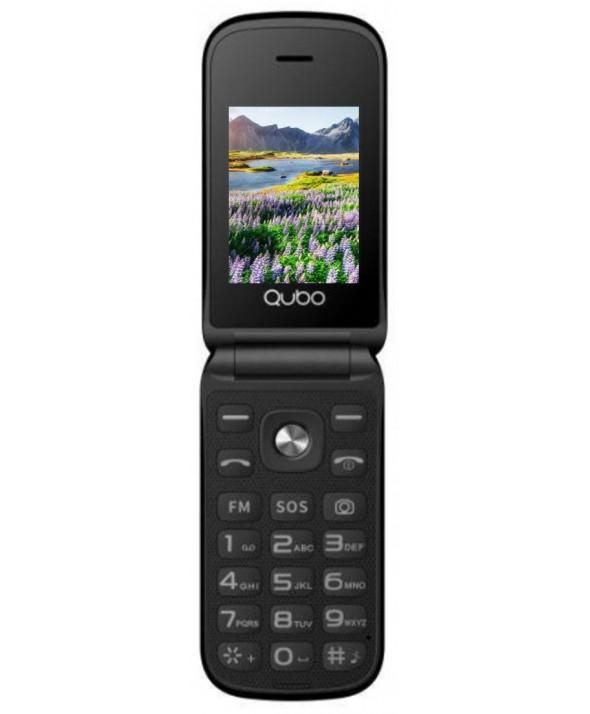 TELEFONO MOVIL CONCHA QUBO SOS BASE DE CARGA NEGRO