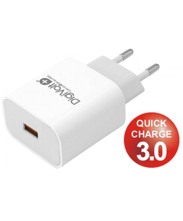 ALIMENTADOR 220V A USB 5V 3A ULTRA RAPIDO QC-2440