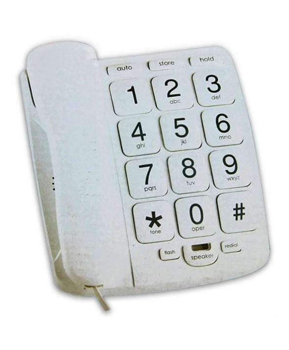 TELEFONO SOBREMESA TECLAS GRANDES MANOS LIBRES SILVANO