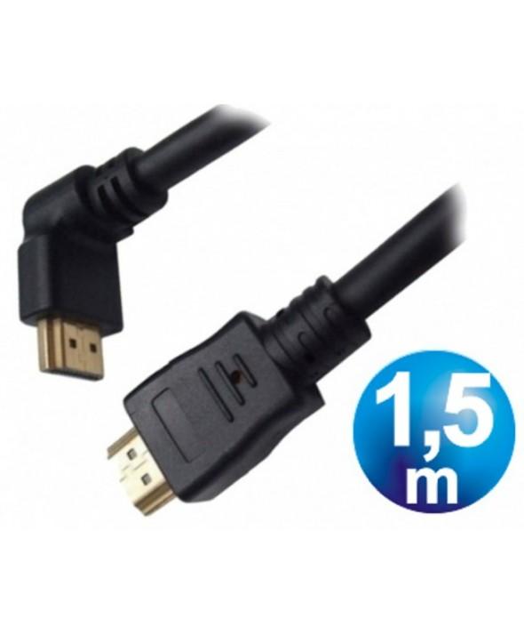 CONEXION HDMI M/M 30AWG CODO V1.4 CABLE 1.5 m