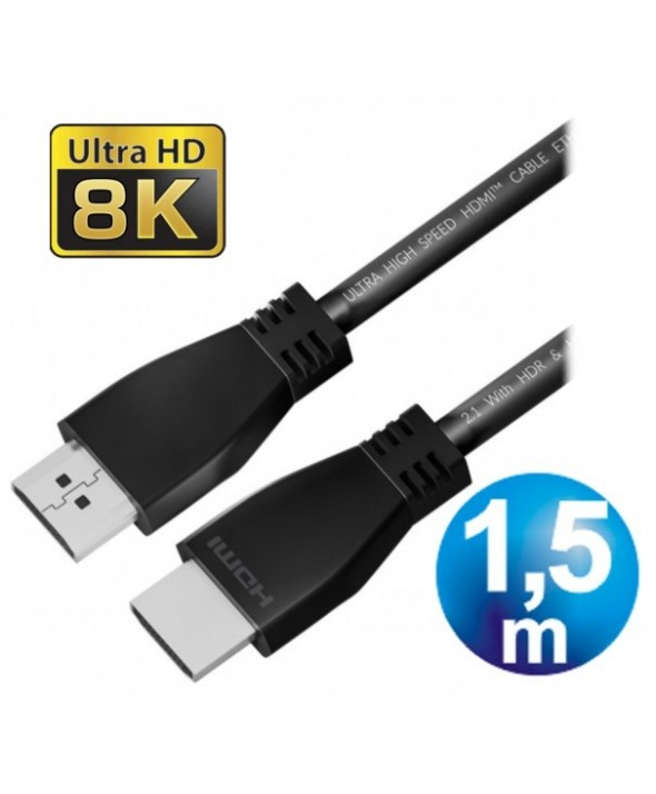 CONEXION HDMI M/M V2.1 8K CABLE 1.5 m