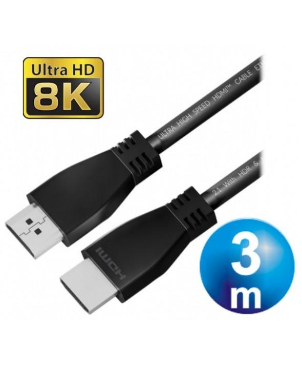 CONEXION HDMI M/M V2.1 8K CABLE 3 m