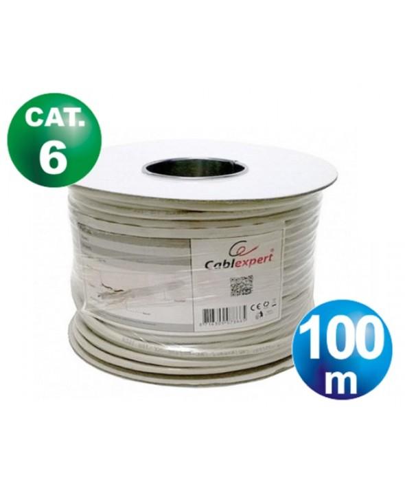 ROLLO 100 m CABLE TELEFONICO CAT.6 FTP FLEXIBLE