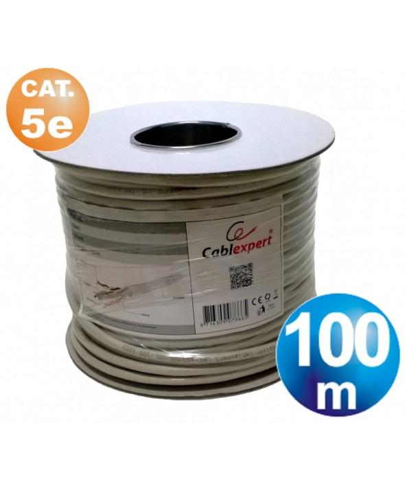 ROLLO 100 m CABLE TELEFONICO CAT.5e FTP(CCA) FLEXIBLE