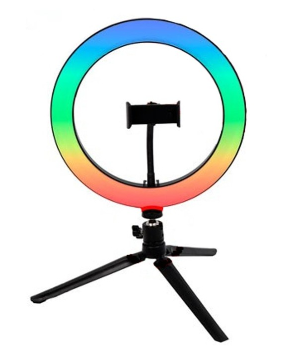 ANILLO CON LUZ RGB 26cm CON TRIPODE DigiVolt