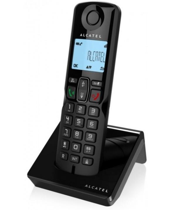 TELEFONO INALAMBRICO ALCATEL MANOS LIBRES BLOQUEO LLAMADAS NEGRO